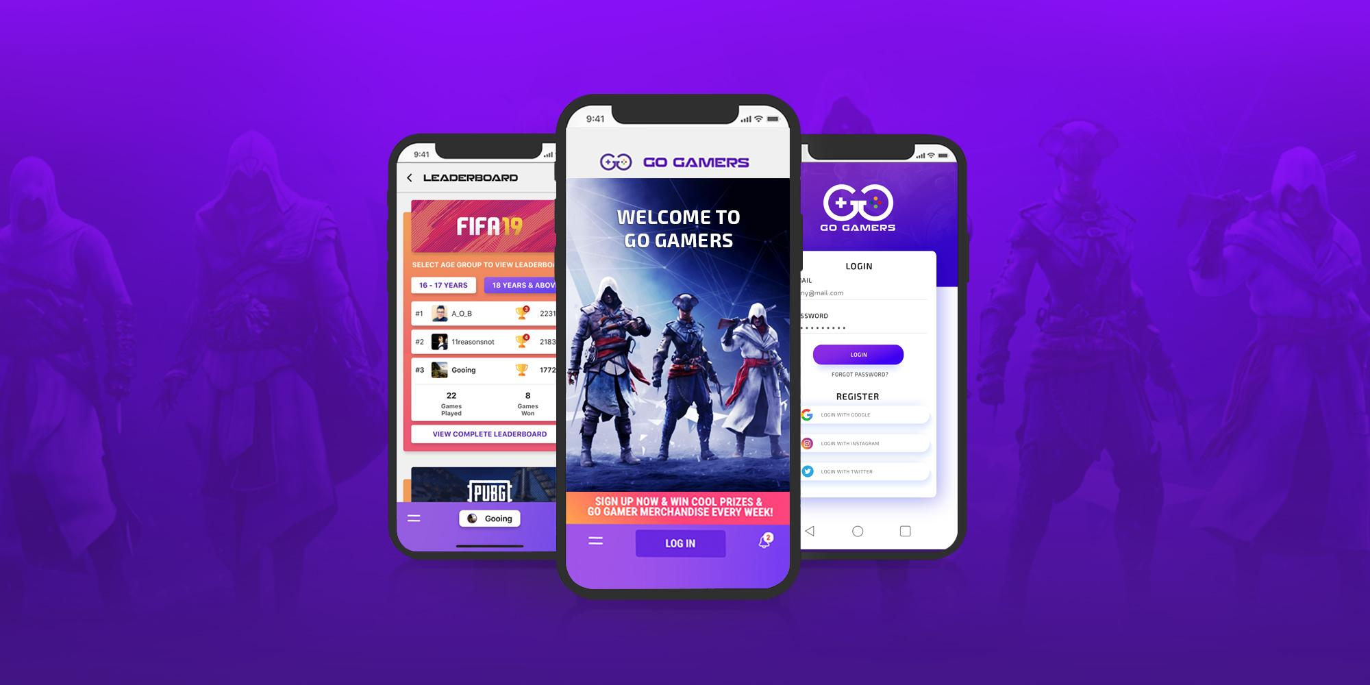 Go Gamers – Mobile App