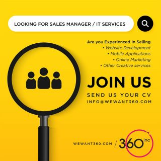 Be a Part of Growing Team!!!Apply Now!!!We are looking for Sales Manager, experienced in selling Websites, Mobile Apps & Other Creative Services#vacancy #jobs #career #recruitment