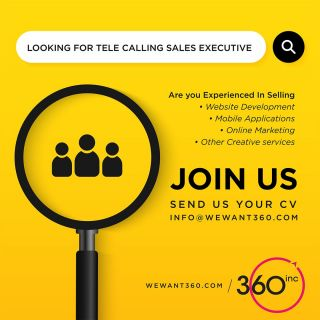 Be a Part of Growing Team!!!Apply Now!!!We are looking for Tele Calling Sales Executive, experienced in selling Websites, Mobile Apps & Other Creative Services#vacancy #jobs #career #recruitment