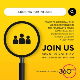Be a Part of Growing Team!!!Apply Now!!!We are looking for InternsWant to gain real time work experience in BDM, Sales Exec, Digital Marketing, Graphic Design, Etc.#vacancy #jobs #career #recruitment